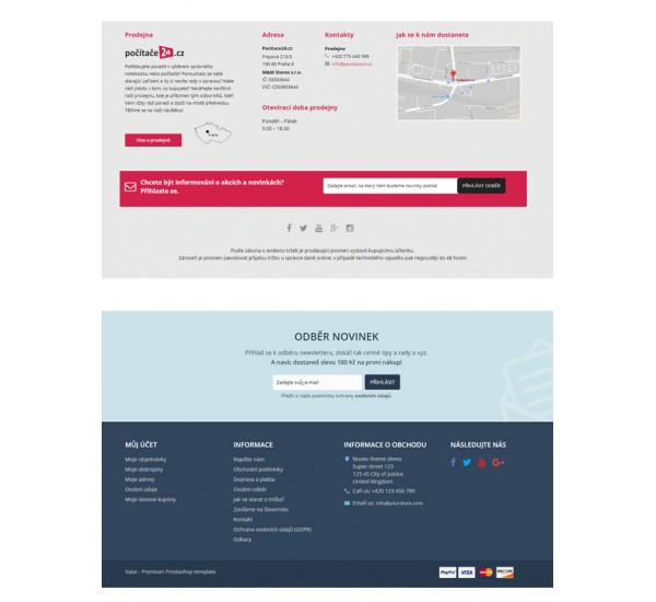 Footer redesign