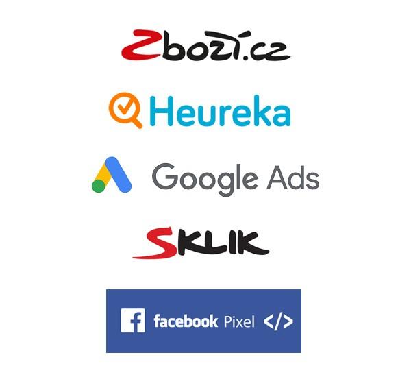 Měření konverzí Sklik, Google Ads, Facebook Pixel, Zbozi.cz, Heureka