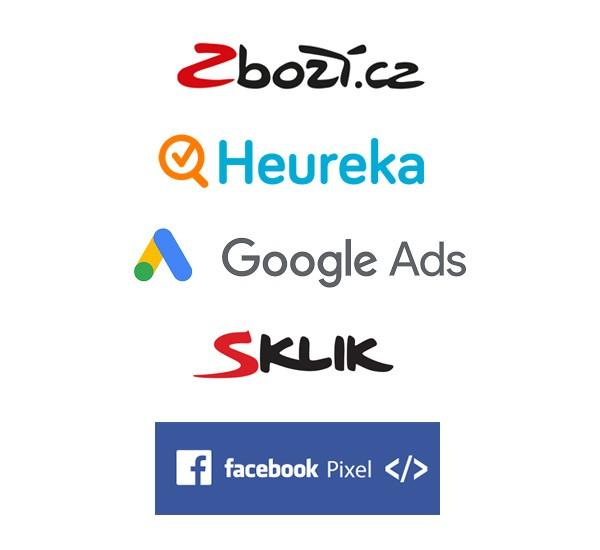 Conversion tracking Google Ads, Facebook Pixel, Sklik, Zbozi, Heureka