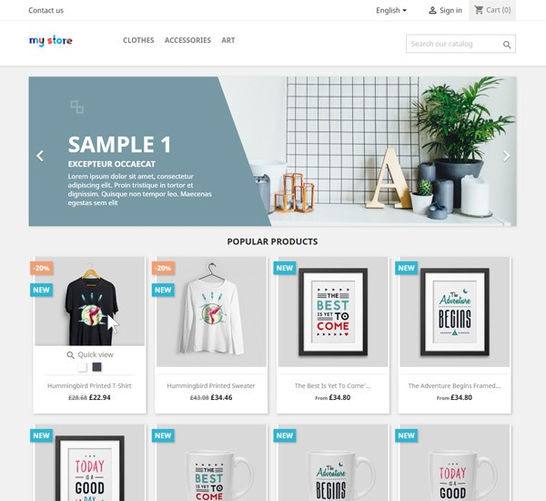 Second image on product hover