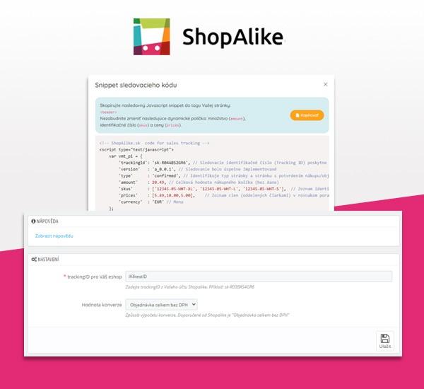 ShopAlike měření konverzí